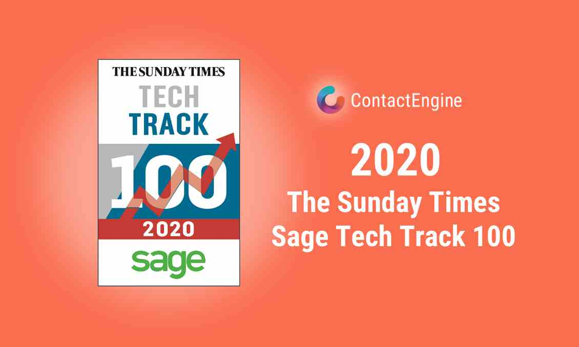 ContactEngine featured in 2020 Tech Track 100 1440X864