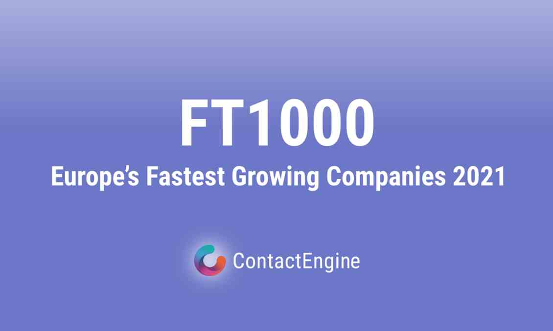 Contactengine Listed In FT1000 2021 1023X630